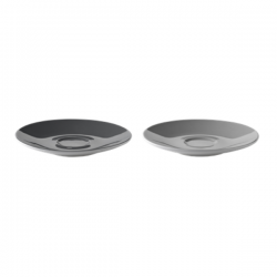 Stelton Emma Saucers, 2 pieces Grey
