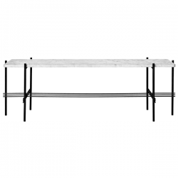 Gubi TS Consol Rectangulare W/1 Marble Shelf