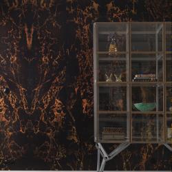 NLXL Black Metallic Marble Wallpaper