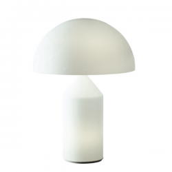 Oluce Atollo 237 Opal Glass Table Lamp