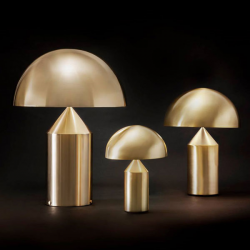 Oluce Atollo Gold Table Lamps