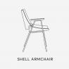 Rex Krajl Shell Armchair