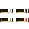Driade Moleskine Portable Atelier Collection Shelf with Sliding Elements
