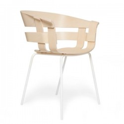 Design House Wick Chair Ash Seat, white Legs