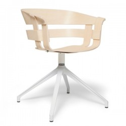 Ash seat, white swivel bas