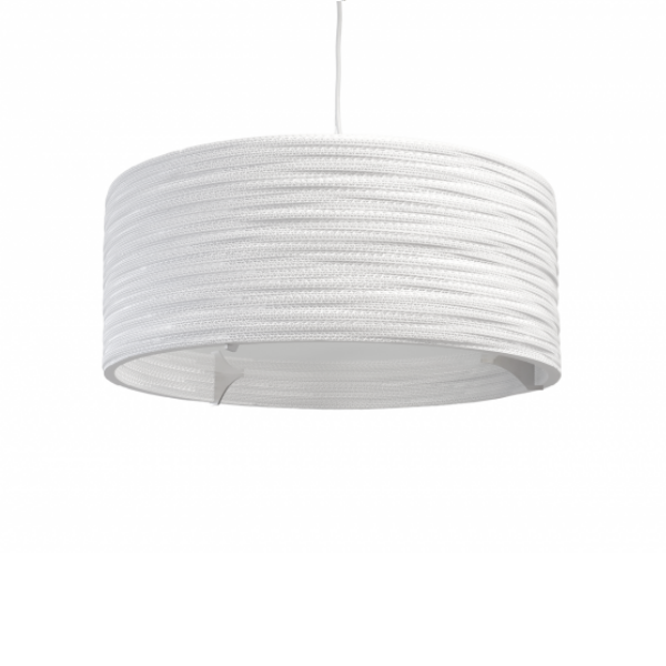 Graypants Drum Lamp Scraplights White