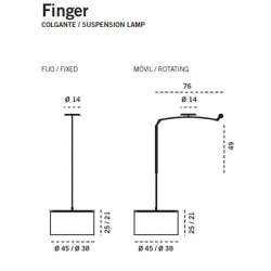 Carpyen Finger Suspension Lamp