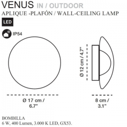Carpyen Venus Wall/Ceiling Lamp