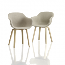 Magis Substance Armchair Dressed Wooden Legs