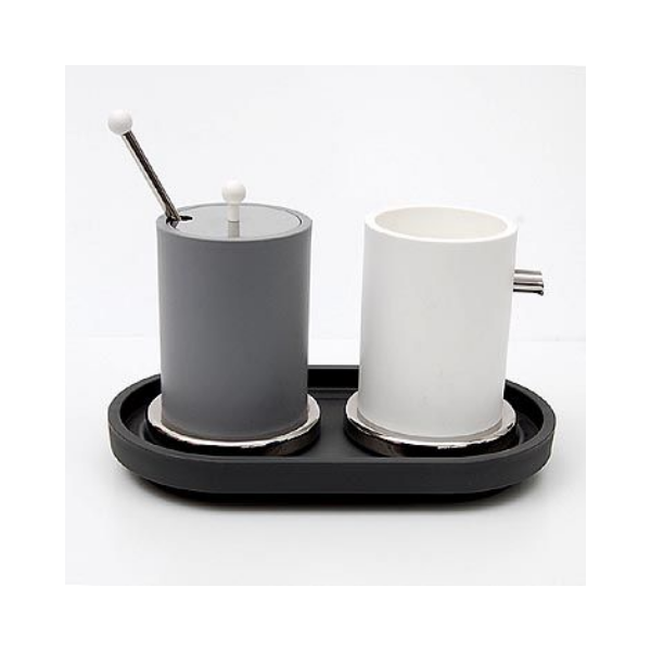 Alessi Sugar pot with spoon Etore Sottssas