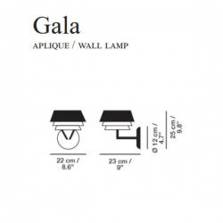 Carpyen Gala wall lamp