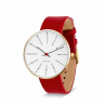 Arne Jacobsen Bankers Watch Red|Gold