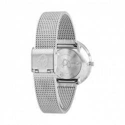 Arne Jacobsen Bankers White Dial, Silver Mesh