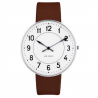 Arne Jacobsen Station Watch White Dial, Brown Strap