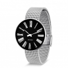Arne Jacobsen Station Watch Black Dial, Silver Mesh