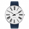 Arne Jacobsen Roman Watch White Dial, Blue Strap