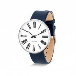 Arne Jacobsen Roman Watch White Dial, Blue Strap