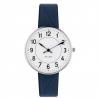 Arne Jacobsen Station Watch White Dial, Blue Leather