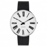 Arne Jacobsen Roman Watch Dial, Black Mesh