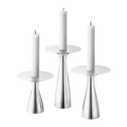 Georg Jensen Alfredo Candle Holder 3 Pcs,