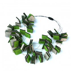 Materia Design Neon Squarei Necklace