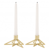 Stelton Tangle Star Candle Holder, 2 pieces, Brass