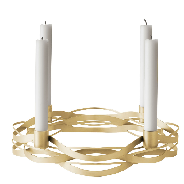 Stelton Tangle Advent Candleholder Brass