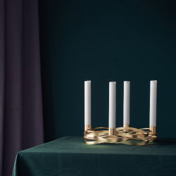 Stelton Tangle Advent Candleholder Brass