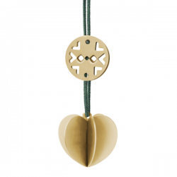 Stelton Nordic Heart Ornament Mini Brass