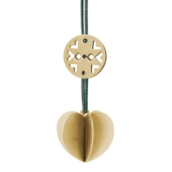 Stelton Nordic Heart Ornament Mini Brass