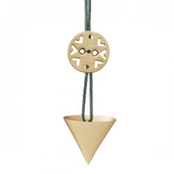 Stelton Nordic Cornet Ornament Mini Brass
