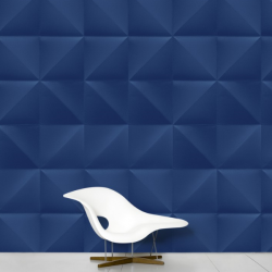 Domestic Wallpaper Floating Dark Blue