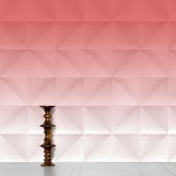 Domestic Wallpaper Floating Gradient Red