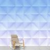 Domestic Wallpaper Floating Gradient Blue