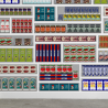 NLXL Lab PNO-09 Supermarket Wallpaper by Paola Navone