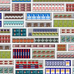 NLXL Lab PNO-09 Supermarket Wallpaper by Paola Navone