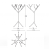 Magis Officina Floor Candle Holder 15 Arms