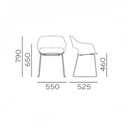 Pedrali Babila Armchair 2745