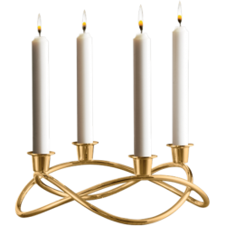 Georg Jensen Season Candle Holder Mirror Gold Plated