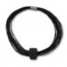 Design MOOMOO Leather Necklace Black
