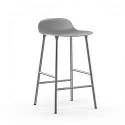 Normann Copenhagen Form Stool Chrome Legs