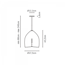 Fabbian Oru Pendant Light F25 A01 03
