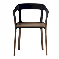 Magis Steelwood Walnut Chair