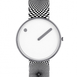 Picto Watch White Graphic Strap
