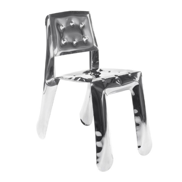 Zieta Chippensteel 0.5 Chair Stainless Steel Polished