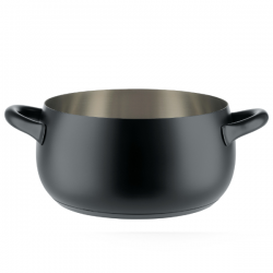 Alessi Mami Casserole with two handles Black