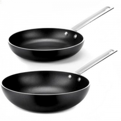 Alessi Mami Frying Pan Black