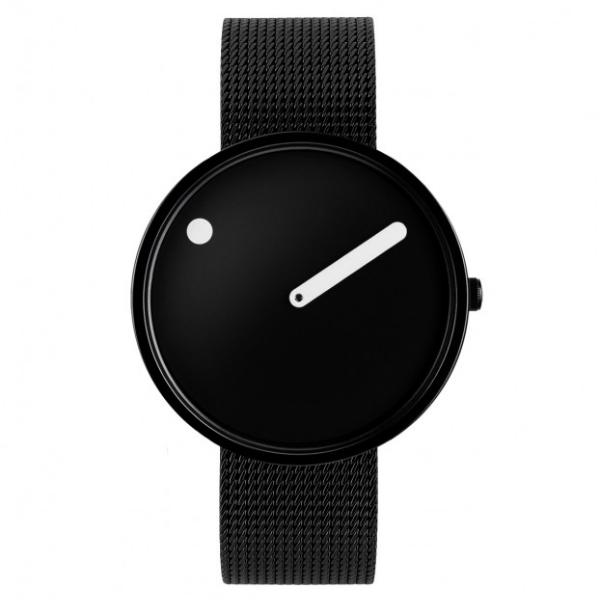 Picto  Watch Black, Black Mesh