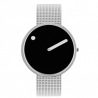 Picto Watch Black, Steel Mesh