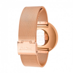 Picto Watch Blue, Rose Gold Mesh